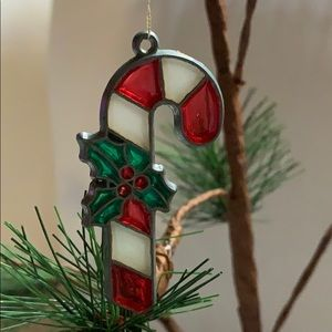"""2.5"""" vintage candy cane Christmas tree ornament"""